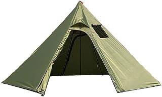 ワンポールテント 5-6人用 400 x 150 x 220 CM 換気窓あり テント 軽量 キャンプテント210T PU3000MM 簡単設営 防水 内料理・焚火可