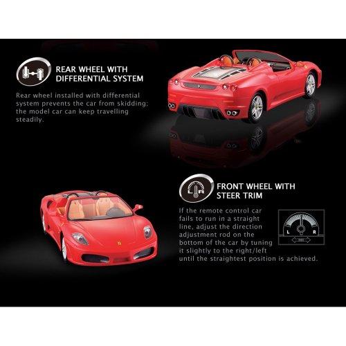 HSP Himoto Ferrari F430 Spider - RC ferngesteuertes Lizenz-Fahrzeug im Original-Design, Modell-Maßstab 1:14, Ready-to-Drive, Auto inkl. Fernsteuerung und Batterien