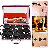 Further 24 Pcs Portable Spa Massage Pierre Chauffe-Réchauffeur Kit Outil pour Anti-Rides, Anti-vieillissement Gua Sha Massage, Désintoxication De La Peau Et Rajeunissement Et Beauté