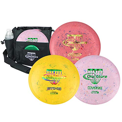 Discraft Jawbreaker Disc Golf Starter 3 Disc Pack - Assorted Colors - Plus Bag