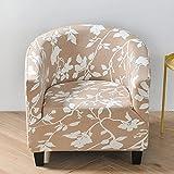 Fundas Sofas 3 y 2 Plazas Ajustables Flor Blanca Caqui Fundas para Sofa Spandex Cubre Sofa Estampadas Fundas Sofa Elasticas Universal Verano Modernas Fundas para Sofa Chaise Longue