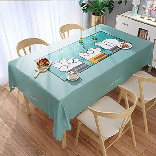 TENGDLOEA Mantel PVC impermeable, a prueba de aceite, mantel desechable anti-escaldado Mesa de estudio lindo Mesa de tocador Decoración de tela adecuada for reuniones familiares y exteriores, hoteles