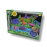 Arena mágica fosforescente para modelar. 800 gr. 2 Colores. con 6 moldes de Dinosaurios y 8 moldes de Animales Marinos. Incluye Pala, rastrillo y Bandeja de Juego Hinchable.