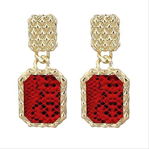 Pendientes para mujer Juegos de aros Pendientes colgantes para mujeres Pendientes de declaración de Boho indio vintage Fiesta Africana303 Rojo