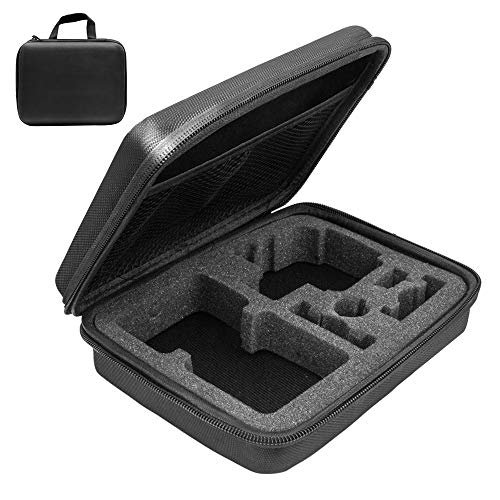 Action Camera Accessories Carrying Housing Case Bag Compatible for Gopro/AKASO/Crosstour/APEMAN/Campark and So On Waterproof Action Camera (M-Medium Size)