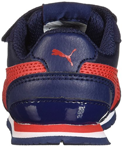 PUMA Baby ST Runner NL Velcro Kids Sneaker peacoat-ribbon red 4 M US Toddler