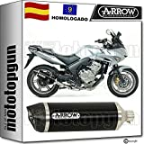 ARROW TUBO DE ESCAPE HOMOLOGADO RACE-TECH CON FONDO CARBY EN ALUMINIO NEGRO COMPATIBLE CON HONDA CBF 600 S 2008 08 2009 09 2010 10 71737AKN