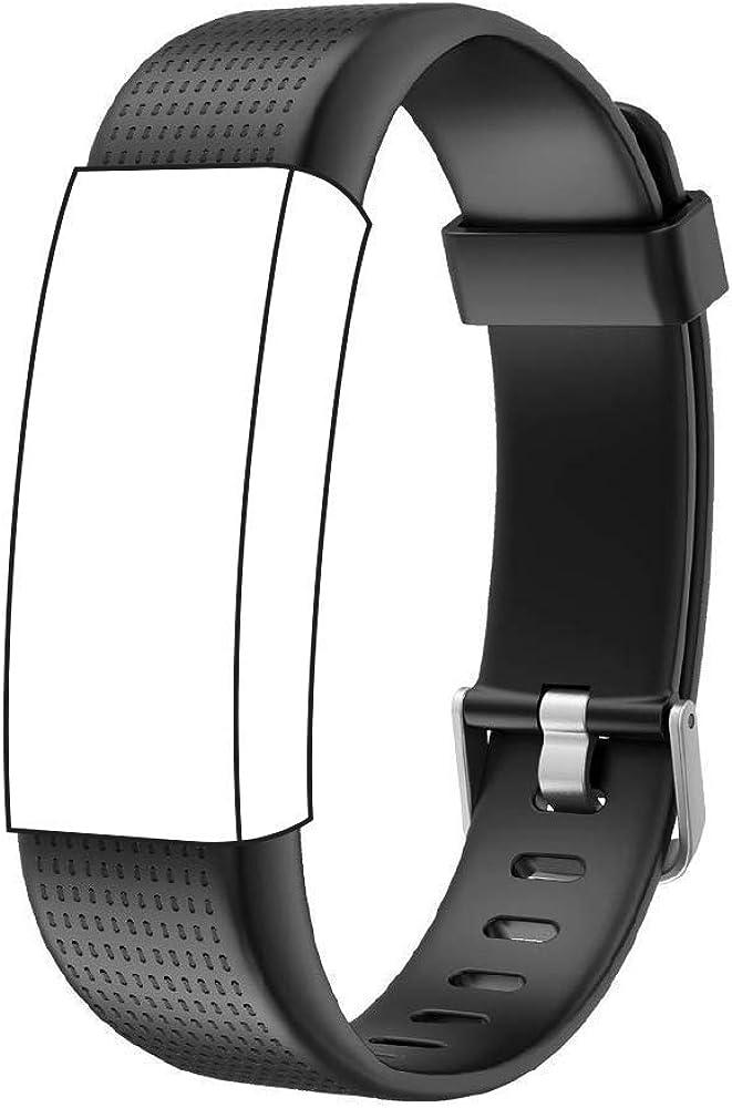 Endubro Ersatzarmband Für Fitness Tracker Id130 Plus Color Hr Viele Weitere Modelle Aus Tpu Skin Friendly Mit Antiallergischem Verschluss Schwarz Bekleidung