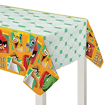 """Amscan 572414 Angry Birds Multicolor Plastic Party Table Cover, 54"""" x 96"""", 1 piece"""