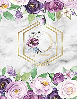 Q :  Cute Initial Monogram Letter: College Ruled Notebook ( Size 8.5 X 11 ) Perfect For Women And Girl Design Floral Alphabet, Gold Letters With Watercolour ฺBeautiful Flowers And Leaf on white marble texture suitable for Writing Journal & Note Taking