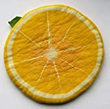 Filzkissen Zitrone