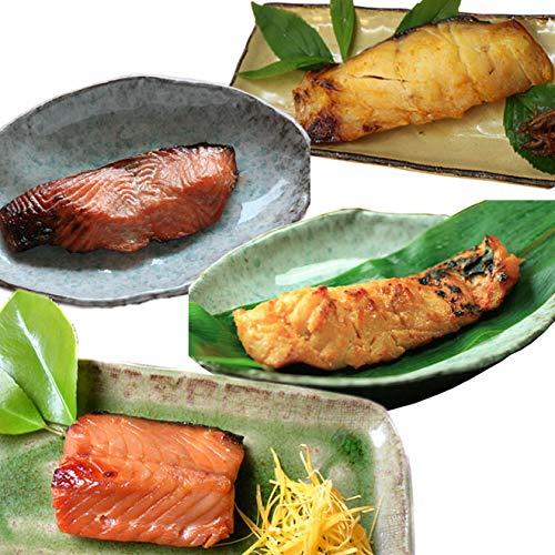 【うおや味ものがたり】味噌漬(4種×2切)セット(鮭・天然真鯛・真鱈・サクラマス 各2切)化粧箱入