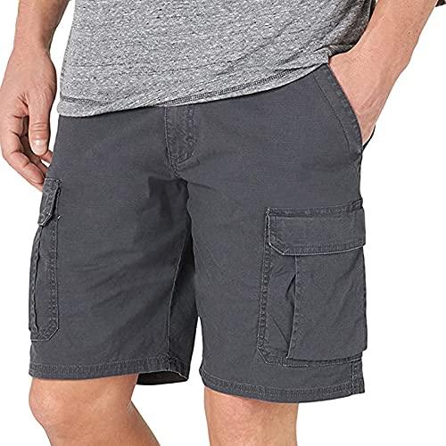 TWIOIOVE Chino Short Pantalones cortos para hombre, de secado rápido, transpirables, ligeros, casuales, de trabajo de verano, Moda Cintura Media Slim Fit Denim Shorts Pantalones