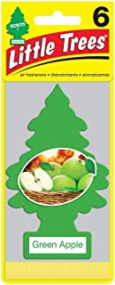 LITTLE TREES Car Air Freshener | Hanging Paper Tree for Home or Car | Green Apple | 6 Pack