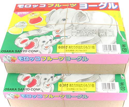 サンヨー製菓 モロッコヨーグル(60付+おまけ10)× 2箱セット (ミニシール付き)