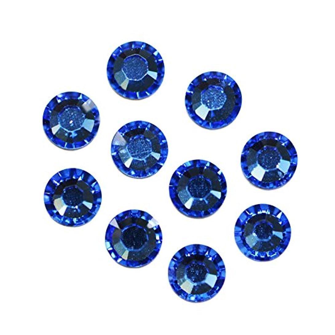 バブル取り囲むシャークスワロフスキーエレメント サファイア /フラットバック ノンホットフィックス (ss30/8粒)