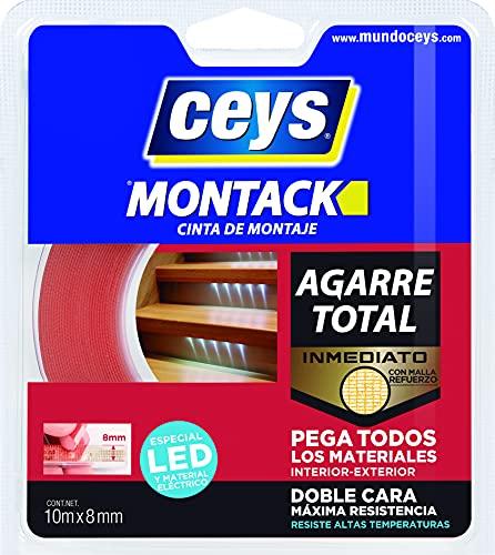 Ceys - Montack a.t - Cinta especial leads - Multicolor - 10 M x 8 MM