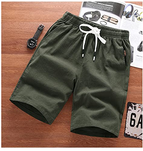 Shorts Pantalones Cortos Hombres Pantalones Cortos para Hombre Pantalones Cortos Casuales Rectos De Algodón Pantalones Cortos Deportivos para Correr para Hombres Ropa Pantalones Cortos Sólidos Ha