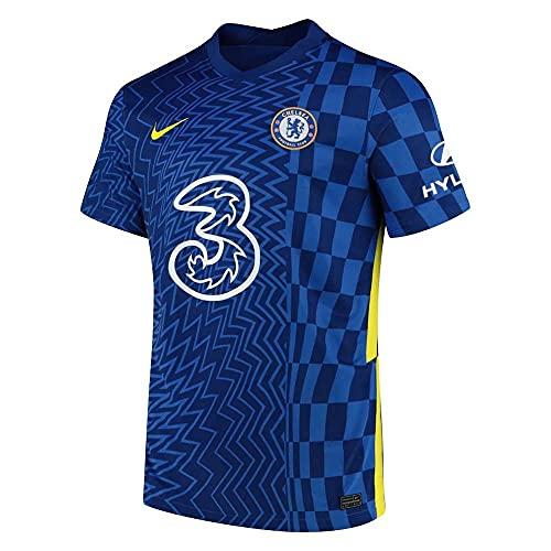 Nike 2021-2022 - Maglietta da calcio Chelsea Home, Uomo, Scarpette a strappo Voltaic 3 Velcro Fade - Bambini, XL 46-48' Chest (112-124cm)