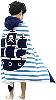 JAMORGANIC Hooded Towels for Kids   Hooded Baby Towel Soft & Absorbent   100% Cotton Kids Towels with Hood   Kids Bath Towel for Boy After Bath, Beach or Swim   24