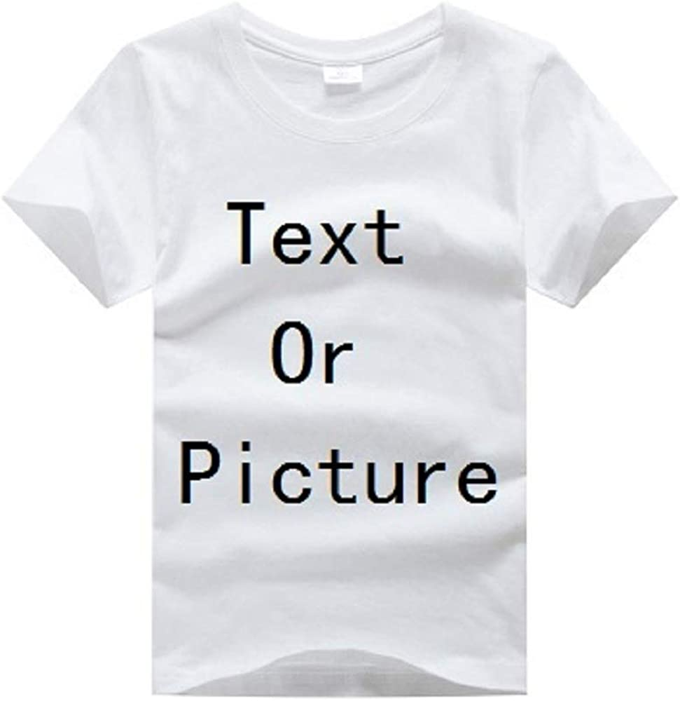 Hooyi Customized Boys T-Shirts Short Sleeve White Cotton Children Tees Shirts Personal Logo