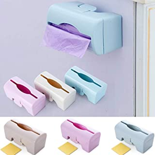 JLCKS Wall-mounted storage box garbage bags garbage bags crisper versatile kitchen tool tissue boxes (Color : Beige)