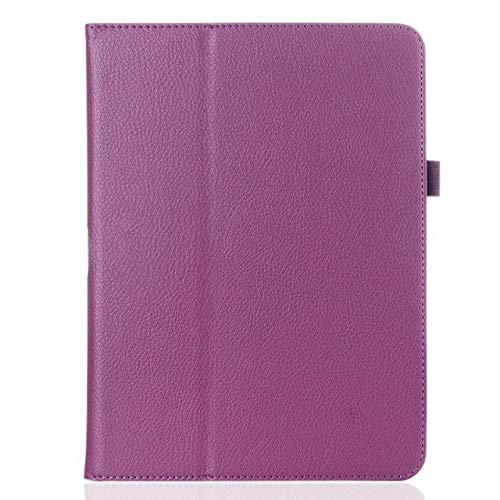 Cubierta de la Caja de Cuero PU para Samsung Galaxy Tab 3 10.1 P5200 P5210 P5220 Funda de la Tableta Folio Folio Caso de la Caja de la Caja Protectora-Morado