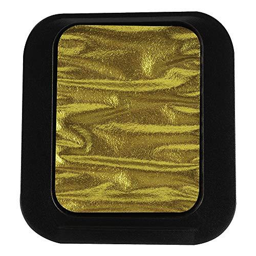 Finetec Pearlescent Watercolor Pan Refill, Metallic Crystal Gold (F1223)