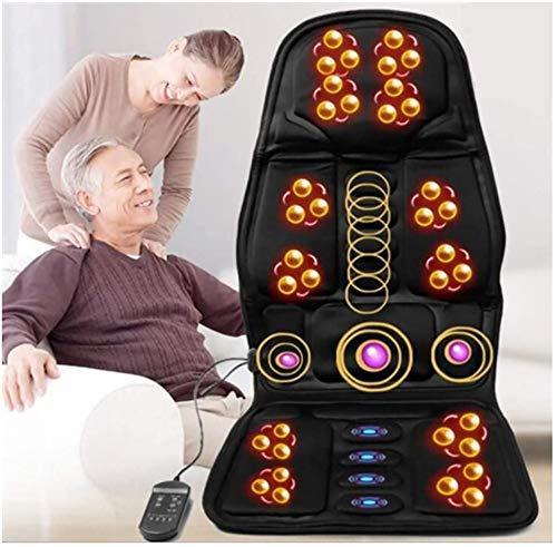 Shiatsu Rückenmassagegerät mit Wärme Vibration Massage Sitzkissen Massage-Stuhl Pad Tief kneten komplett Rückseite Massage Entlasten Muskelschmerzen