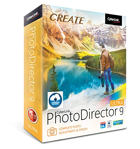Cyberlink PhotoDirector 9 Ultra: Complete Photo Editor For Travel,...