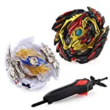 ubrand Bey Battle Burst Evolution Attack Gyro Pack for Battling Tops Game with 4D Launcher