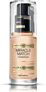 Max Factor Miracle Match Foundation, Light Ivory 40