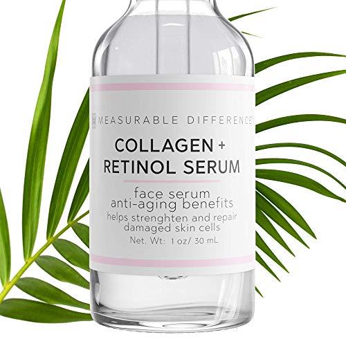Measurable Difference Collagen Retinol Serum, Anti-Aging Facial Serum for...