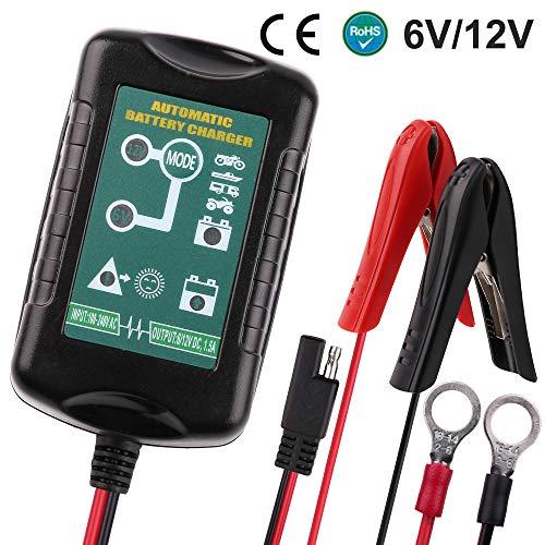 LotFancy 12 V 5 A batterijlader onderhoudslader voor auto, motorfiets, grasmaaier, boot