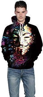 TDPYT Felpa con Stampa A Stampa/Maglione Stampa Digitale Colore Fiore XXXXL Casinò e attrezzature