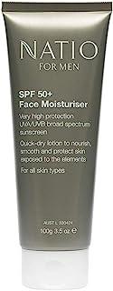 Natio SPF50+ Face Moisturiser for Men, 100g