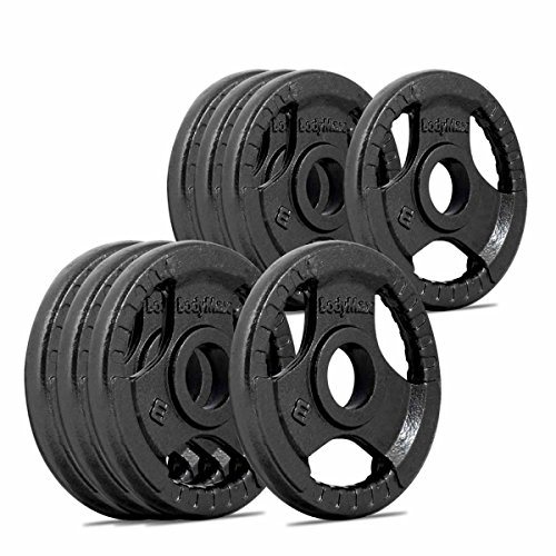 Bodymax Olympic Cast Iron Tri-Grip Weight Disc Plates - 8 x 1.25kg