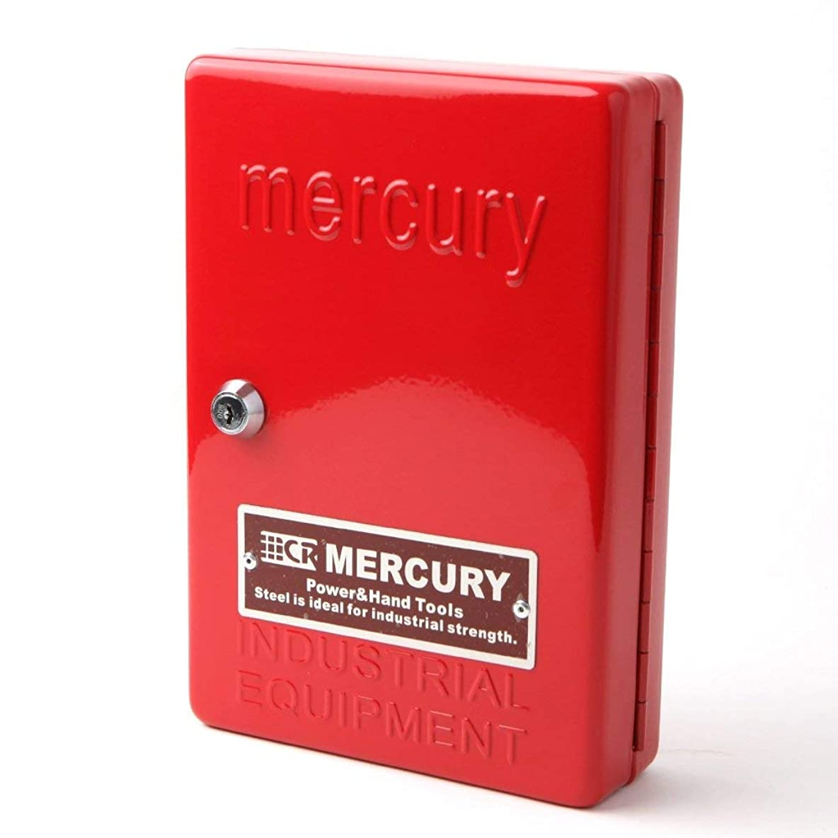メッセージ家族望むMERCURY マーキュリー キーボックス キャビネット レッド カギ24本 収納 スチール製