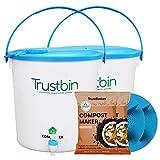 Trust Basket Trustbin (Set Of Two 14 Litres Bins)-Indoor Compost Bin For Converting