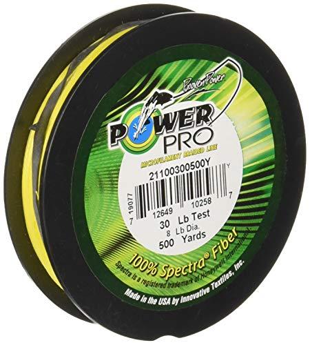 Power Pro Spectra Fiber Braided Fishing Line, Hi-Vis Yellow, 150YD/10LB