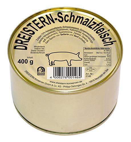 DREISTERN Schmalzfleisch 400g I köstliche Kombination aus Schweinefleisch und Schweinespeck