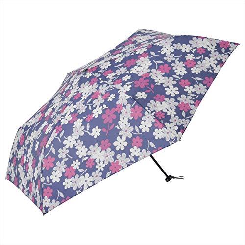 マーガレットカーボン軽量ミニ55 ニフティカラーズ 傘 花柄 大きめ 55cm 折りたたみ 軽量