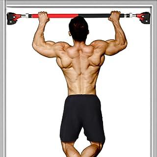 Clothink Barra de dominadas para puerta de puerta, barra para arriba sin tornillos para gimnasio en casa, barra de entrena...