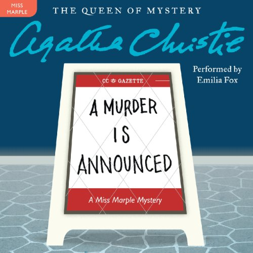 A Murder Is Announced audiobook cover art