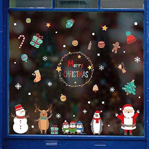 N/C Pegatinas de Navidad Pegatinas Electrostáticas con Pegatinas estáticas de PVC para Navidad Tienda en casa Decoraciones para Ventanas