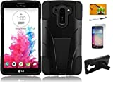 LF 4 in 1 Bundle - Black Hybrid Dual Layer Case with Kickstand, Lf Stylus Pen, Screen Protector &...