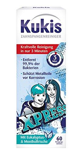 Kukident Kukis Zahnspangen-Reiniger 1er Pack (1x 60 Stück)