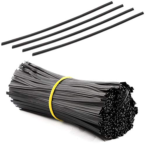 WFPLUS 600Pcs 5 Inches Plastic Black Twist Ties for Candy Bags Party Cello and Cake Pops