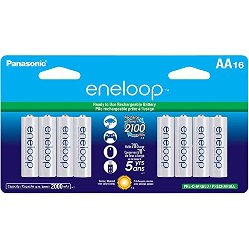 Our #2 Pick is the Panasonic eneloop Rechargeable AA Batteries