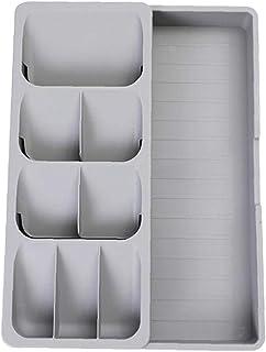 Runfon Organisateur de Cuisine Tiroir rétractable argenterie Couverts Couverts Vaisselle Organisateur Boîte de Rangement